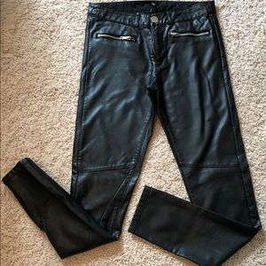 Divided H & M Faux Black Leather Pants Size US 4